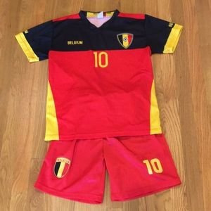 Other - 🇧🇪 Belgium Soccer Shirt and Short Set SZ 12